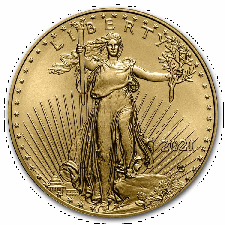 1 Unze Goldmünze American Eagle 2021 *Neues Design*