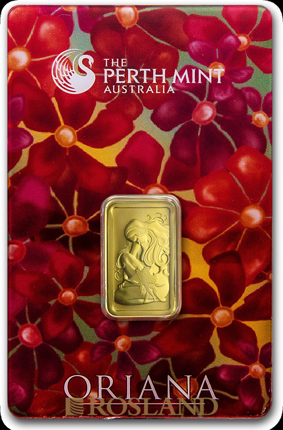5 Gramm Goldbarren Perth Mint Oriana