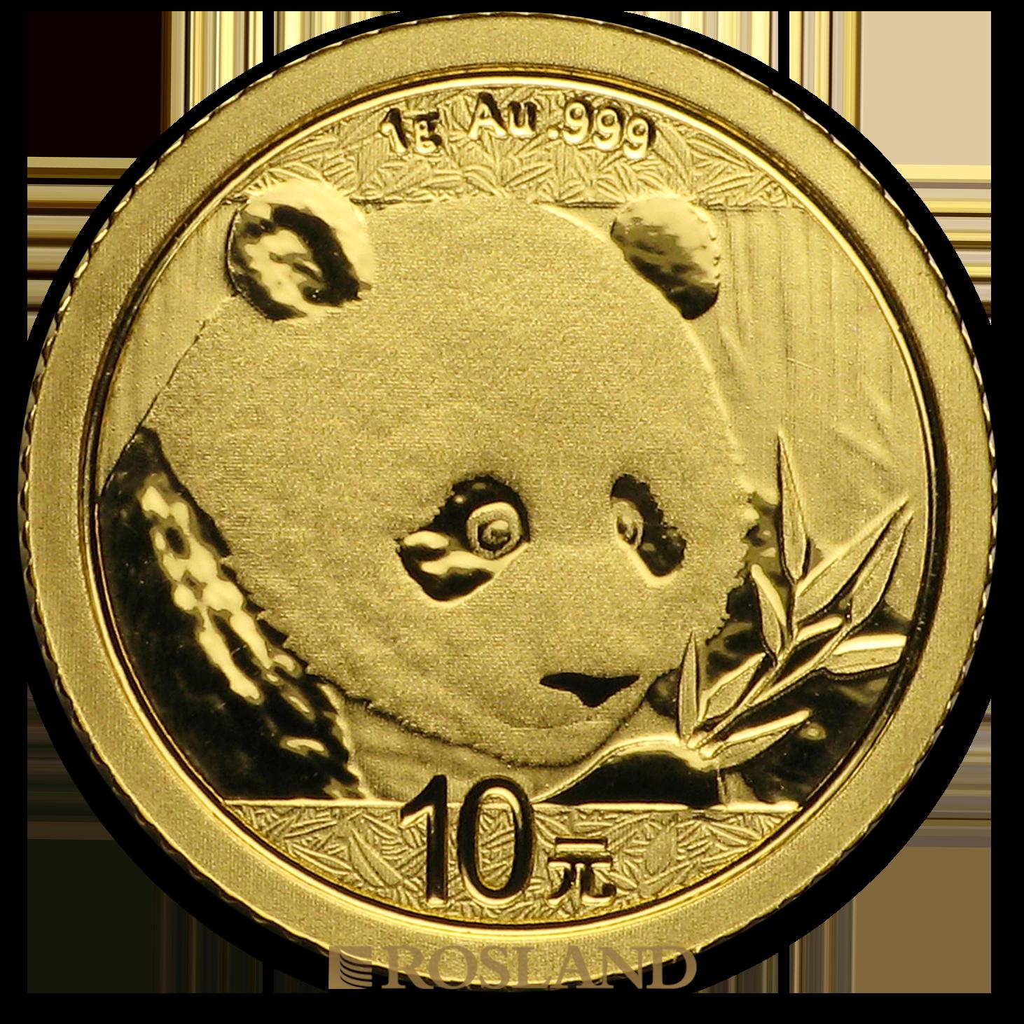 1 Gramm Goldmünze China Panda 2018