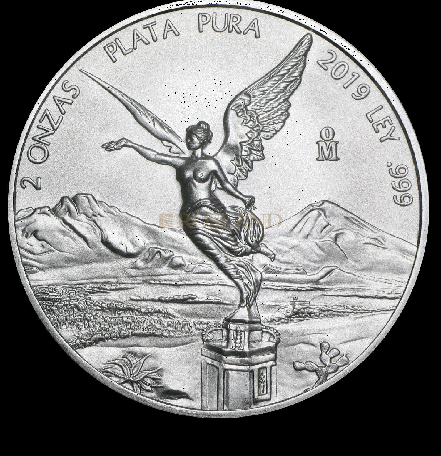 2 Unzen Silbermünze Mexican Libertad 2019