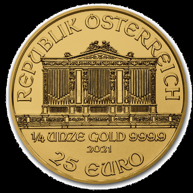 1/4 Unze Goldmünze Wiener Philharmoniker 2021