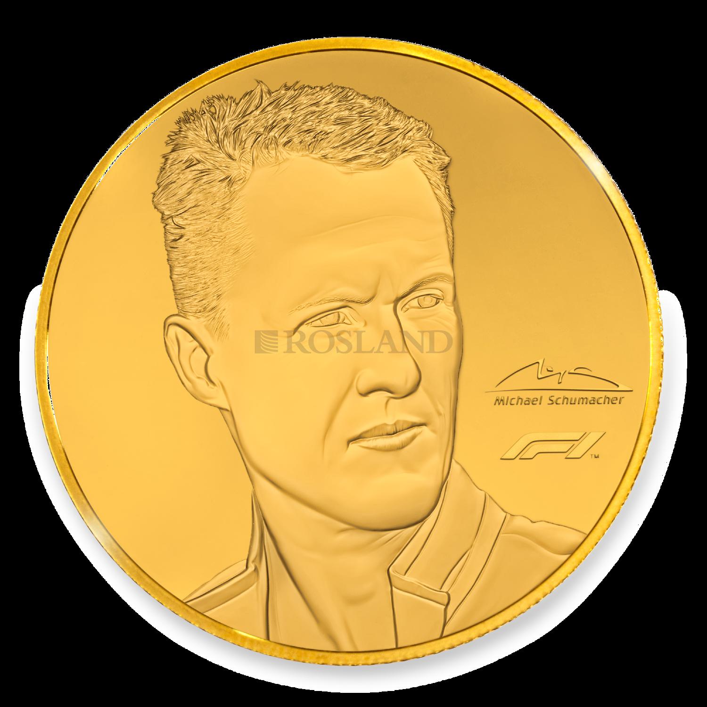 1/4 Unzen Goldmünze Michael Schuhmacher 2020 PP (Box, Blister, Zertifikat)