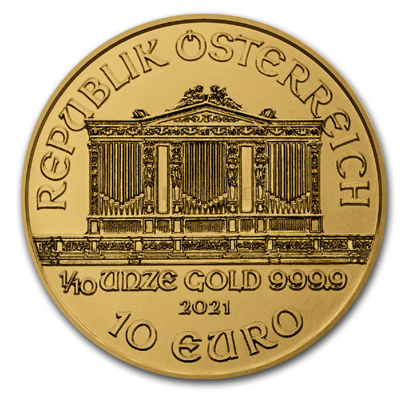1/10 Unze Goldmünze Wiener Philharmoniker 2021