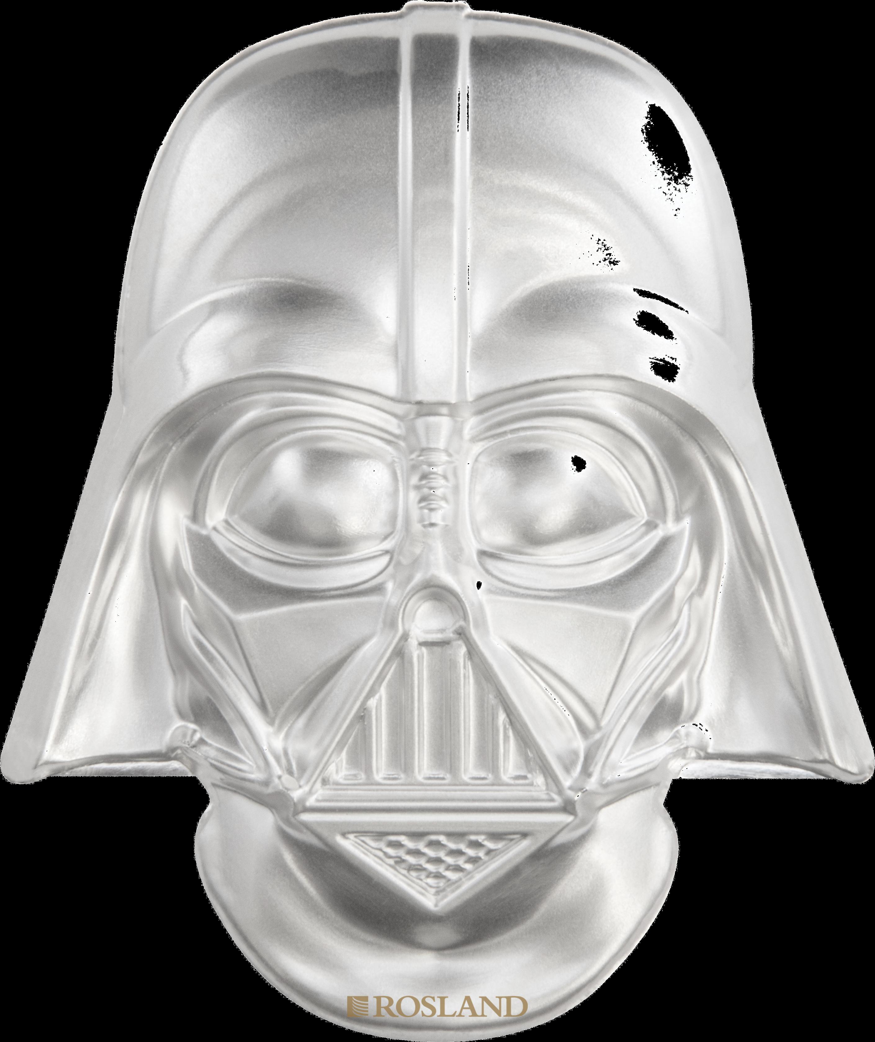2 Unzen Silbermünze Star Wars™ Darth Vader Helm 2019 PP (UHR, Box, Zertifikat)