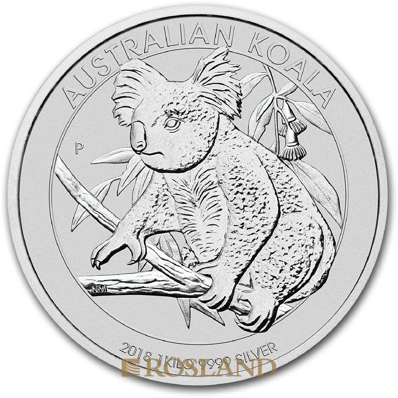 1 Kilogramm Silbermünze Koala 2018