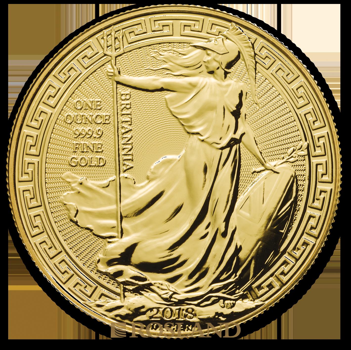 1 Unze Goldmünze Britannia 2018 - Oriental Border