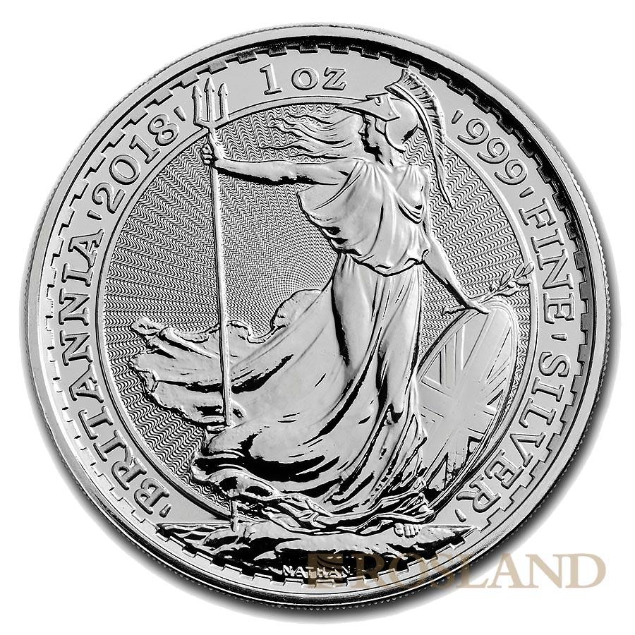 1 Unze Silbermünze Britannia 2018