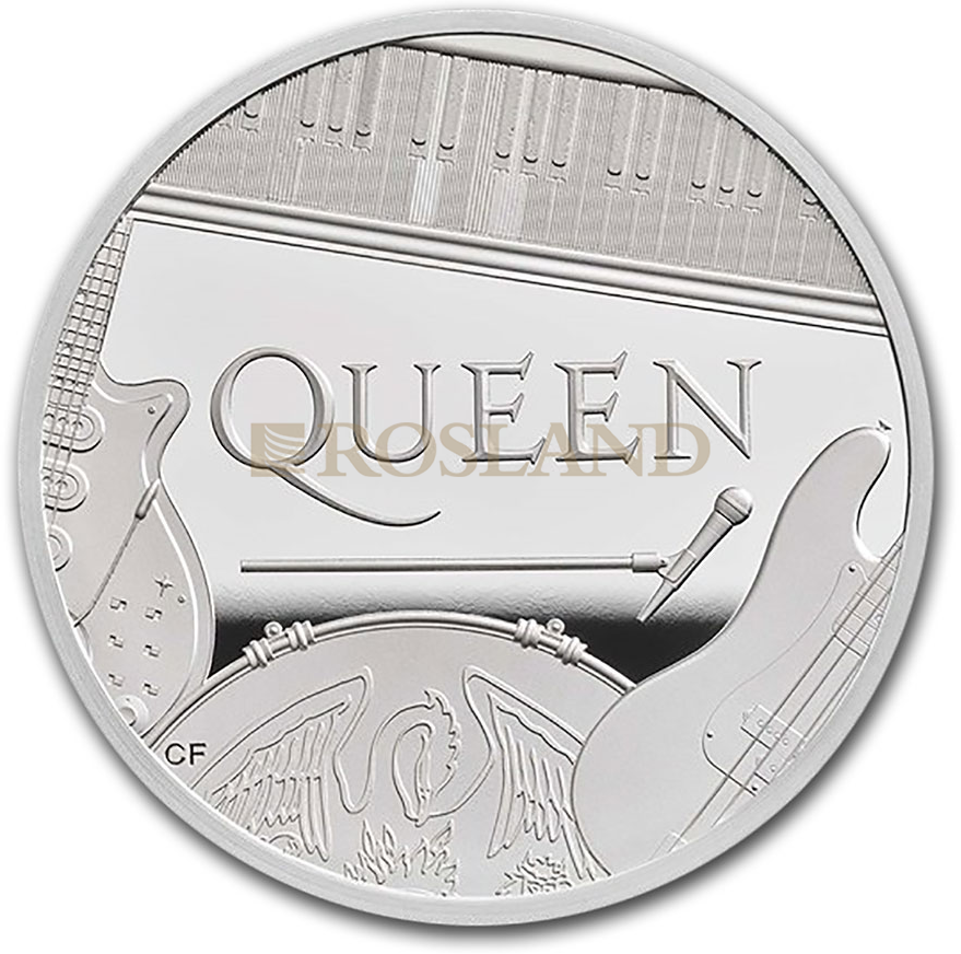 2 Unzen Silbermünze GB Musiklegenden - Queen 2020 PP (Box, Zertifikat)