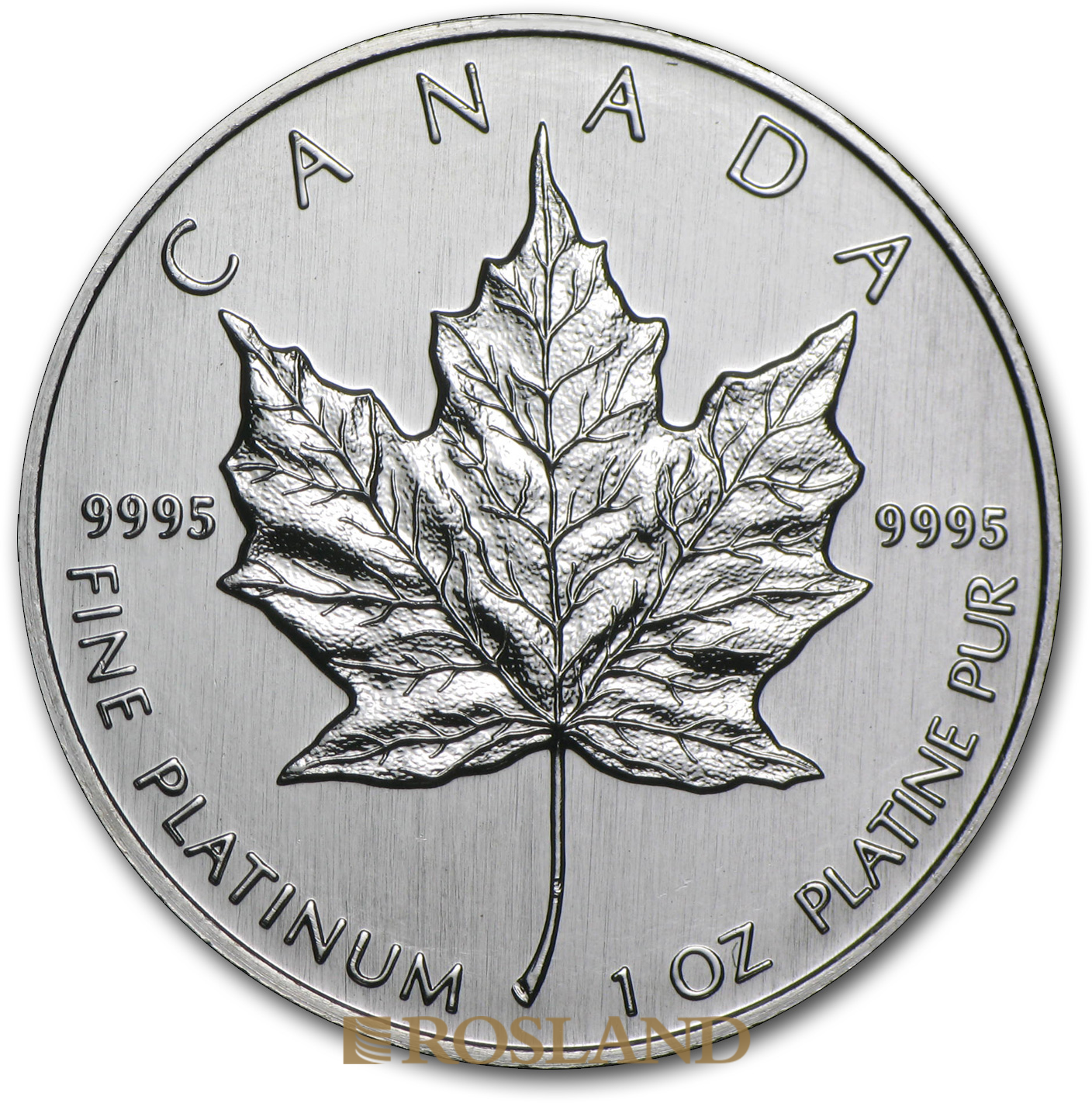 1 Unze Platinmünze Kanada Maple Leaf 1992