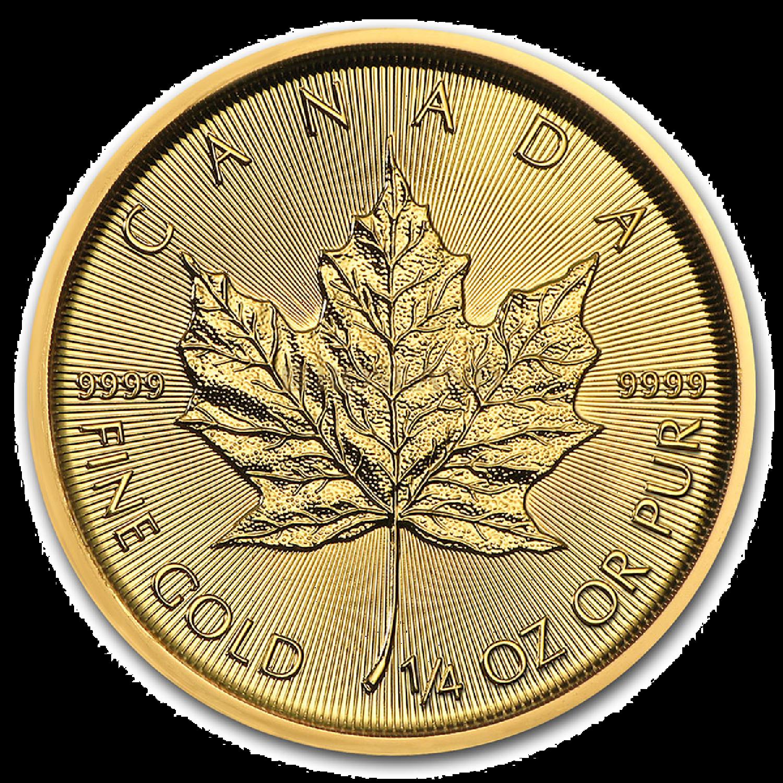 1/4 Unze Goldmünze Kanada Maple Leaf 2021