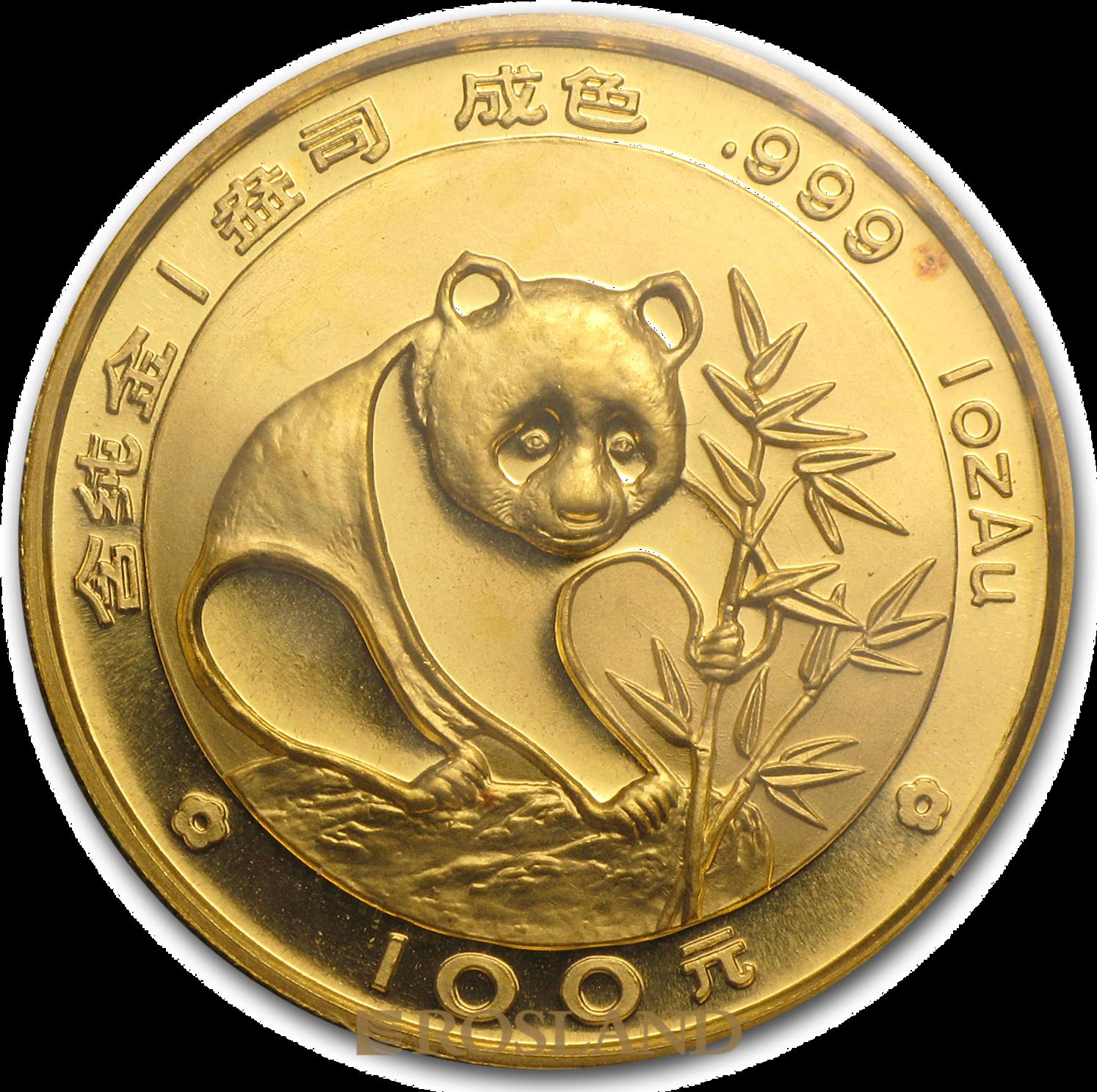 1 Unze Goldmünze China Panda 1988