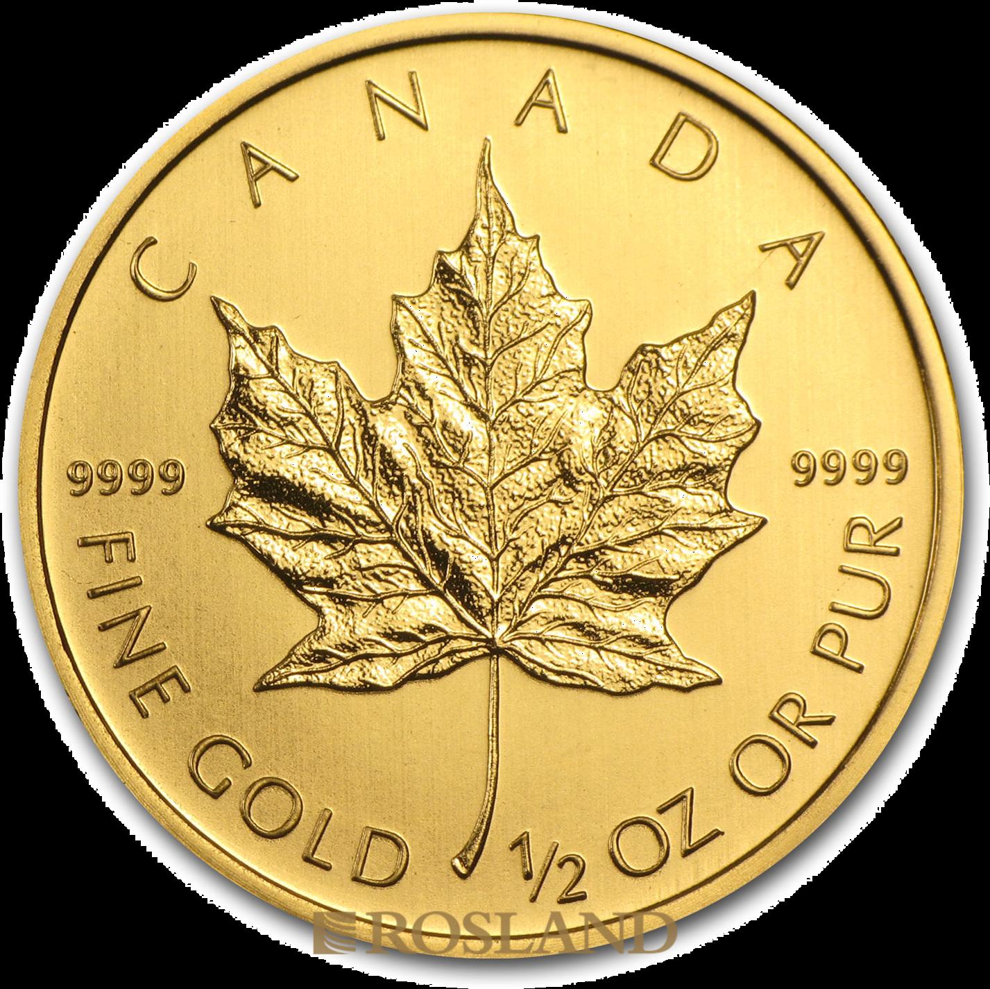 1/2 Unze Goldmünze Kanada Maple Leaf 2013