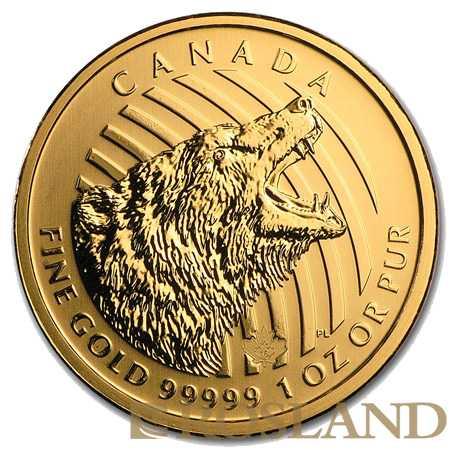 1 Unze Goldmünze Call of the Wild Grizzly Bär 2016 (.99999 Gold, Blister)