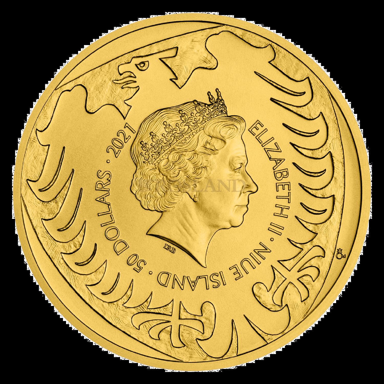 1 Unze Goldmünze Tschechischer Löwe 2021