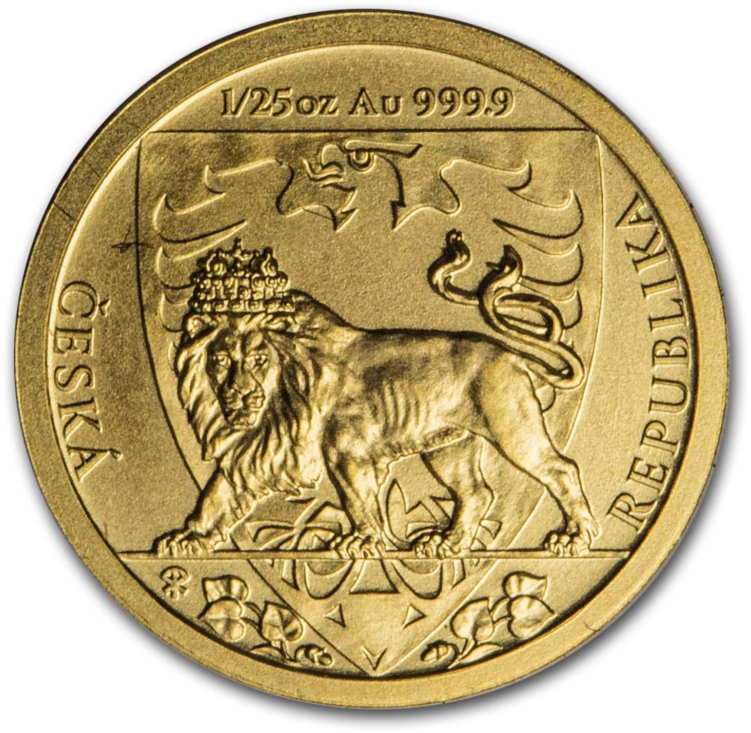 1/25 Unzen Goldmünze Tschechischer Löwe 2020