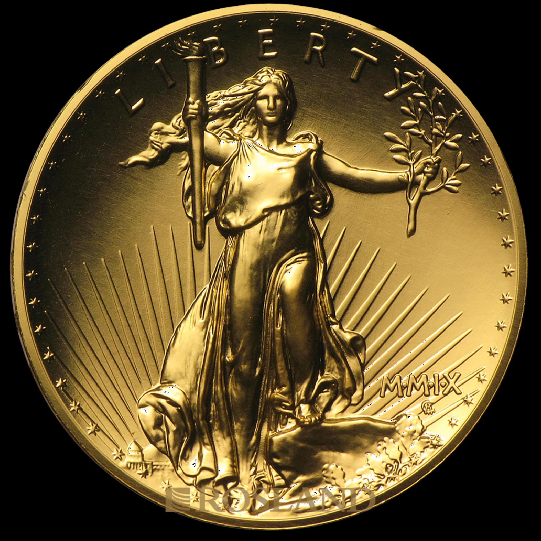 1 Unze Goldmünze American Liberty 2009 PL (UHR, Box, Zertifikat)