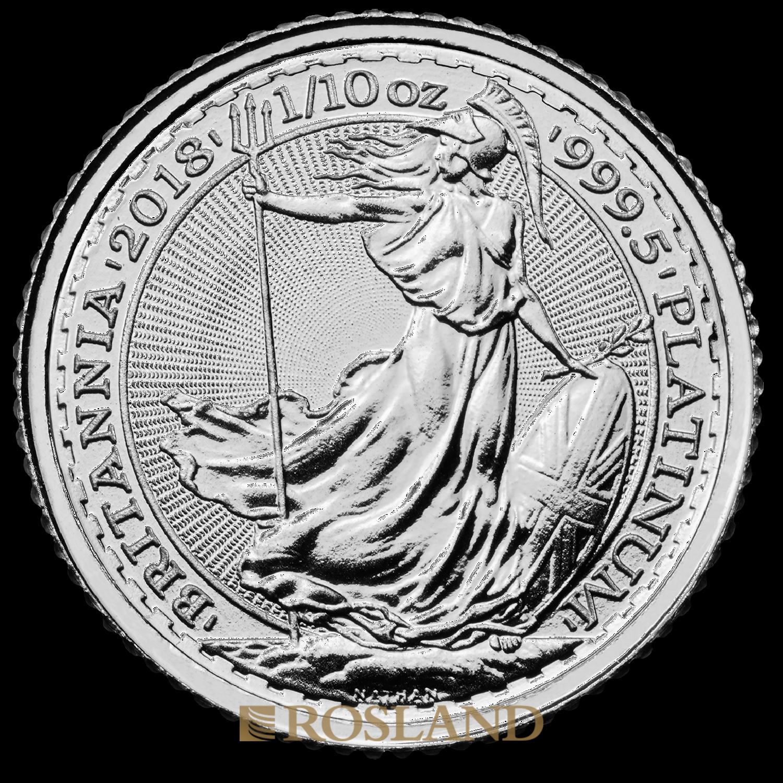 1/10 Unze Platinmünze Britannia 2018