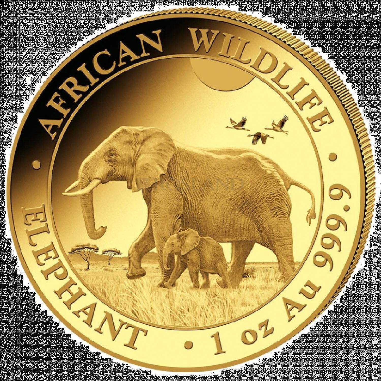 1 Unze Goldmünze Somalia Elefant 2022