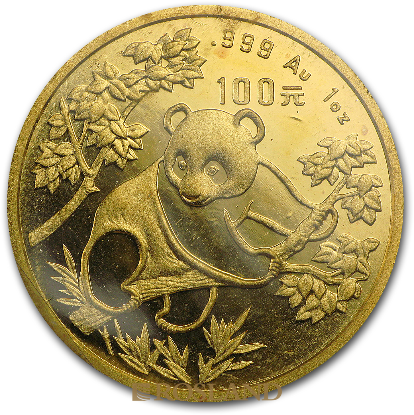 1 Unze Goldmünze China Panda 1992 (Großer Jahrgang)