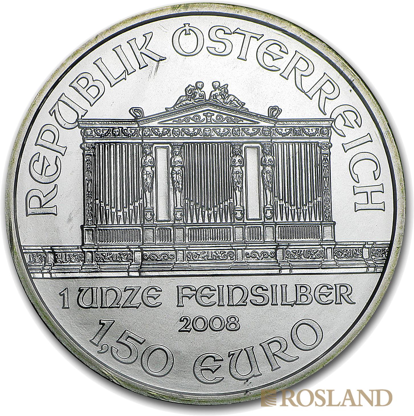 1 Unze Silbermünze Wiener Philharmoniker 2008