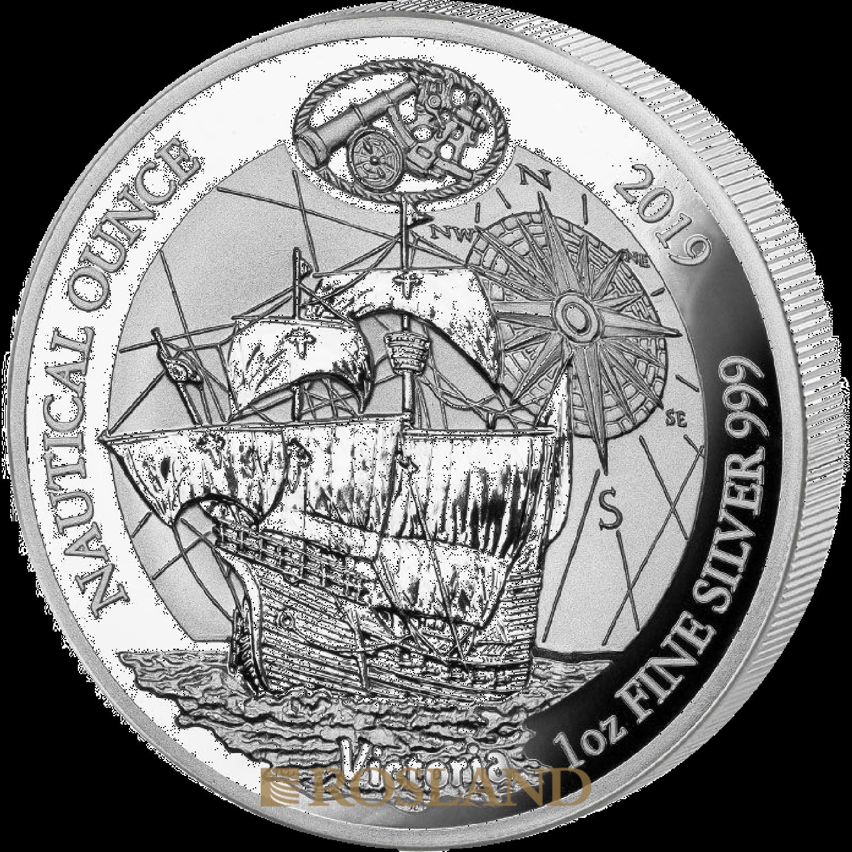 1 Unze Silbermünze Ruanda Nautical Victoria 2019 PP