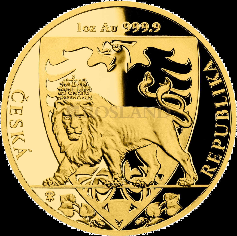 1 Unze Goldmünze Tschechischer Löwe 2020 PP