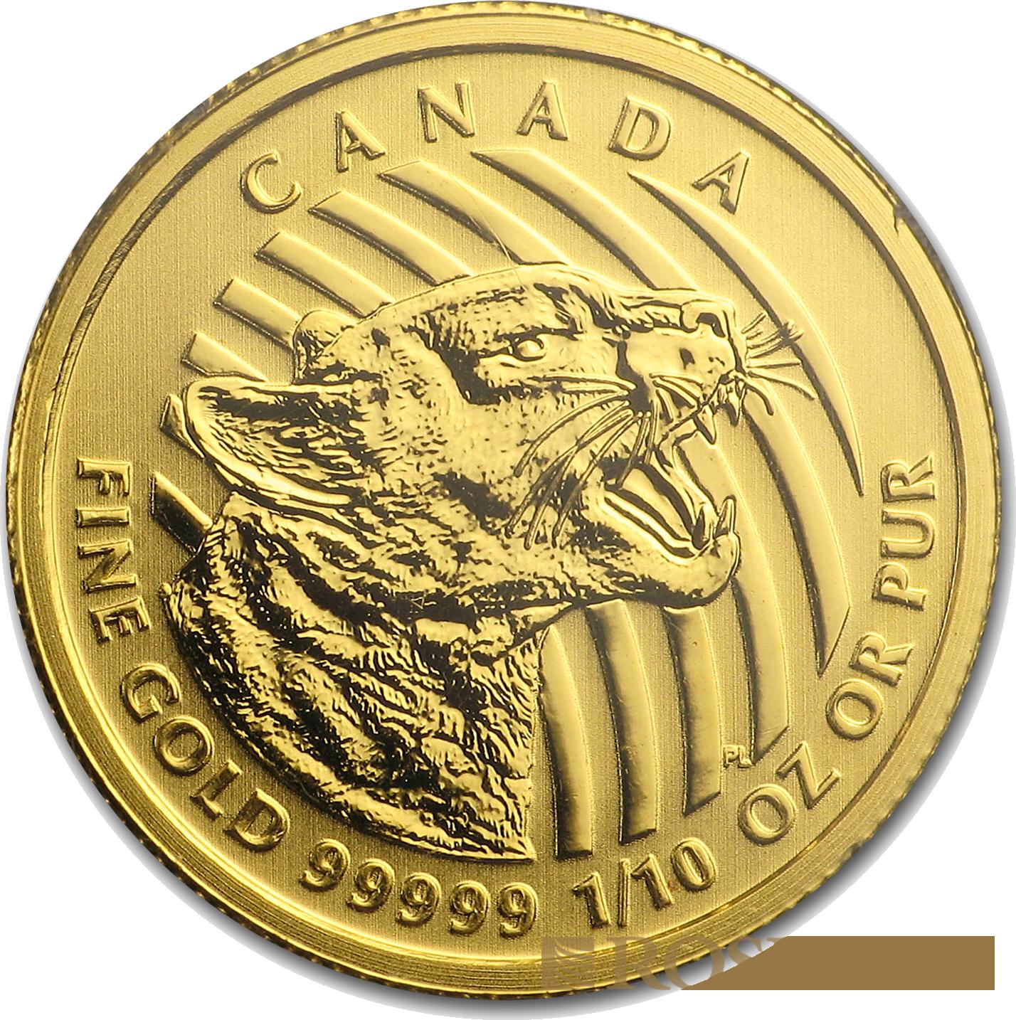 1/10 Unze Goldmünze Call of the Wild Puma 2016 (.99999 Gold, Blister)