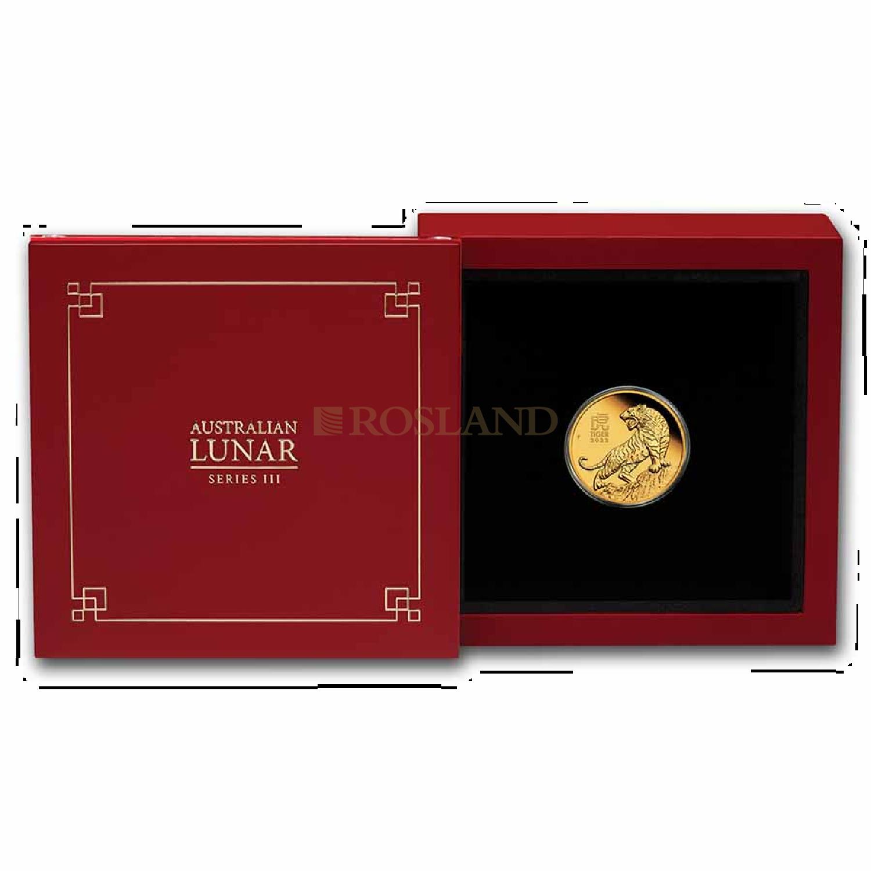 1/10 Unze Goldmünze Lunar 3 Tiger 2022 PP (Box, Zertifikat)