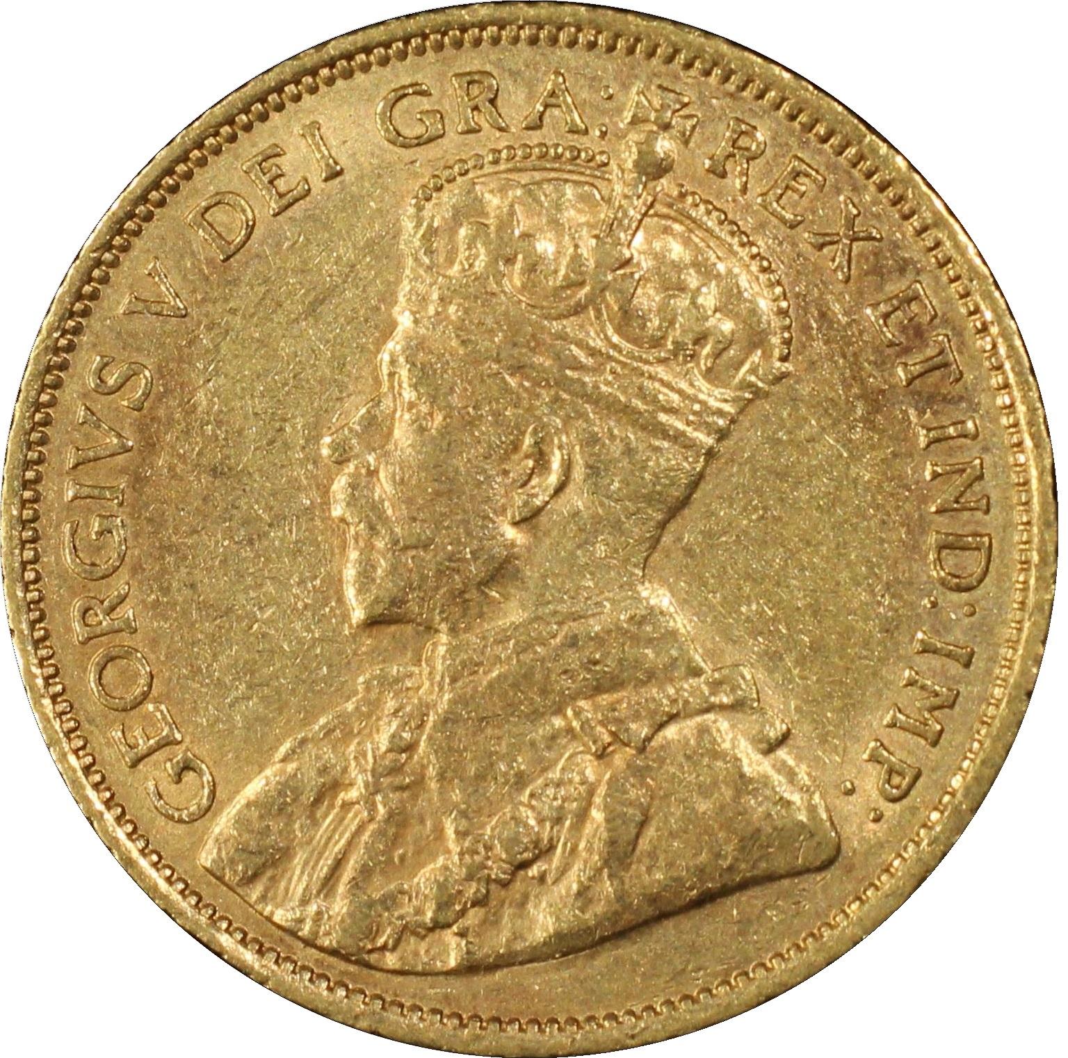 Canada Hoard $5 George V 1912-1914