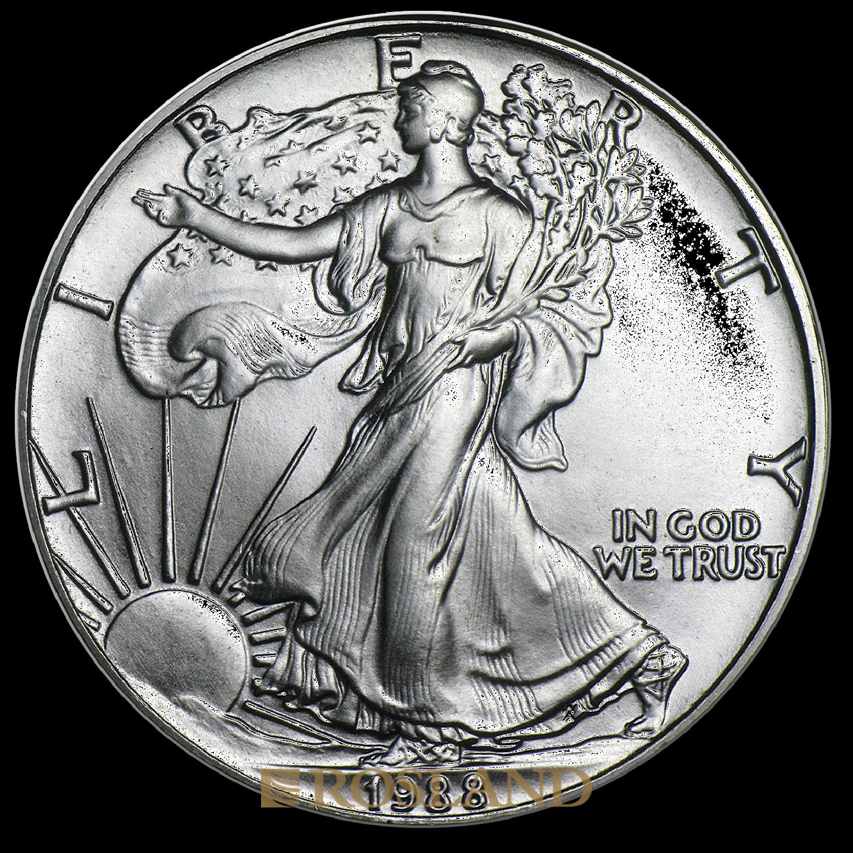 1 Unze Silbermünze American Eagle 1988