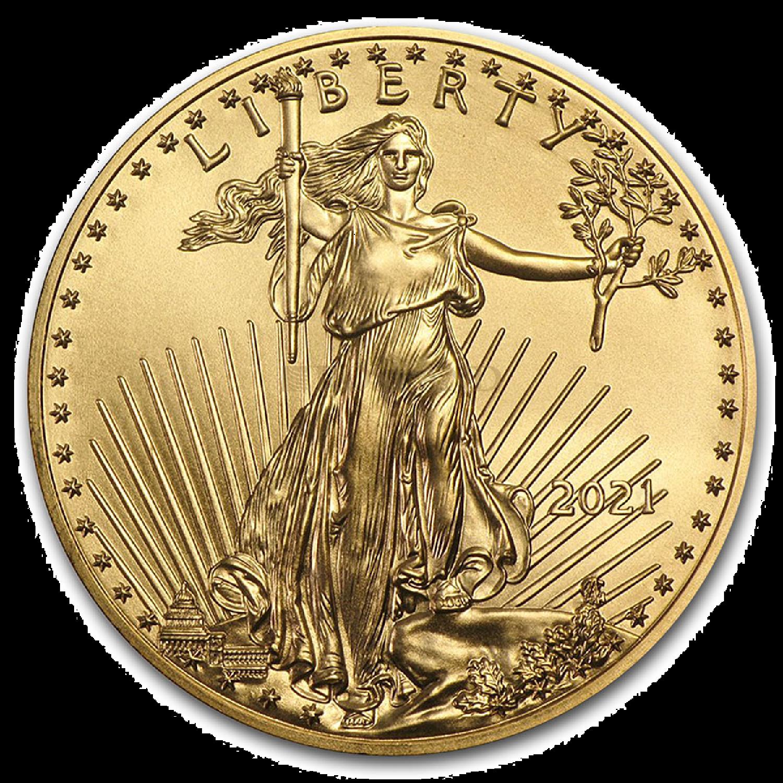 1 Unze Goldmünze American Eagle 2021