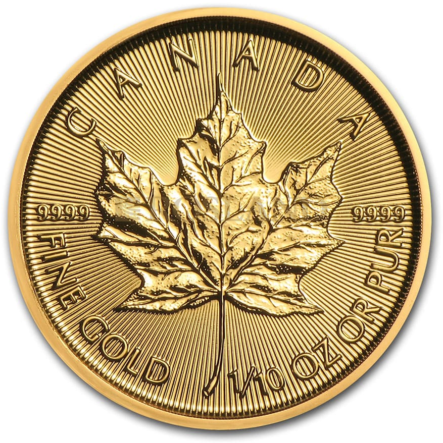 1/10 Unze Goldmünze Kanada Maple Leaf 2020