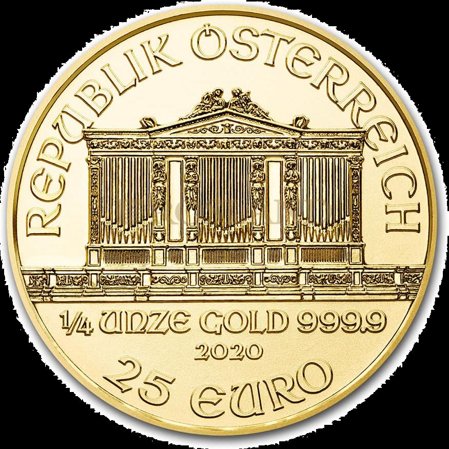 1/4 Unze Goldmünze Wiener Philharmoniker 2020