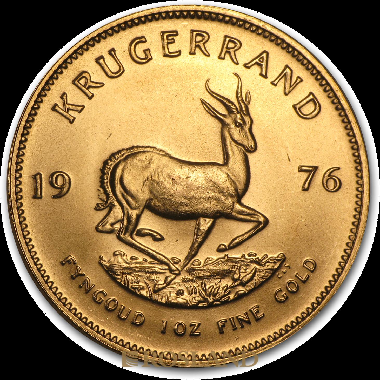 1 Unze Goldmünze Krügerrand 1976