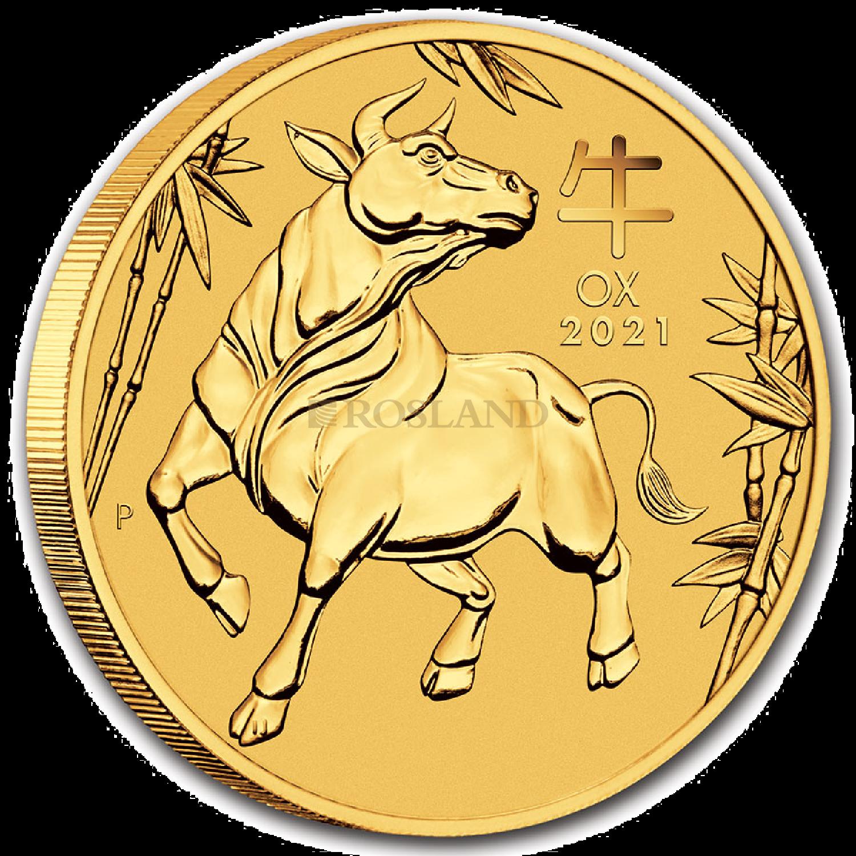 10 Unzen Goldmünze Lunar 3 Ochse 2021