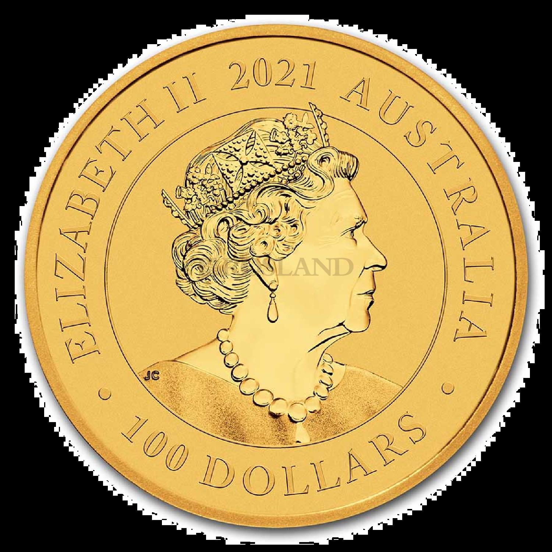 1 Unze Goldmünze Australien Schwan 2021