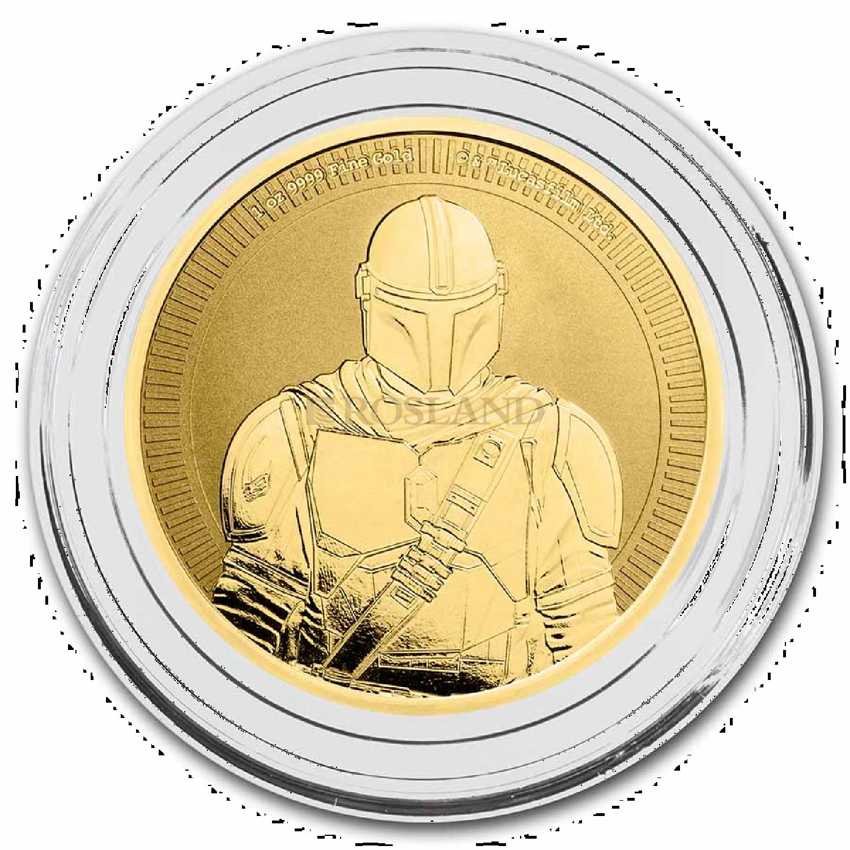 1 Unze Goldmünze Star Wars™ The Mandalorian 20212