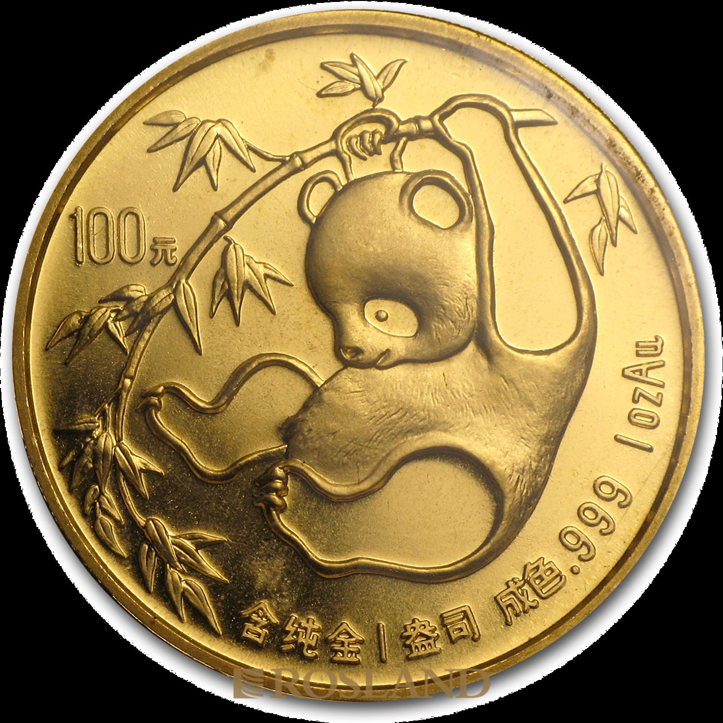 1 Unze Goldmünze China Panda 1985