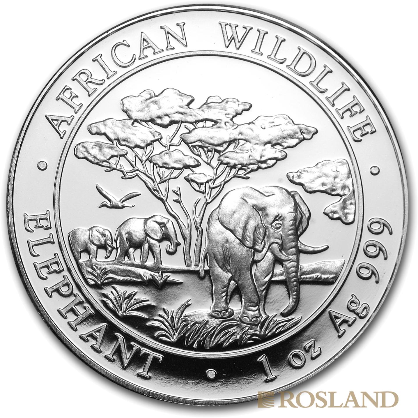 1 Unze Silbermünze Somalia Elefant 2012