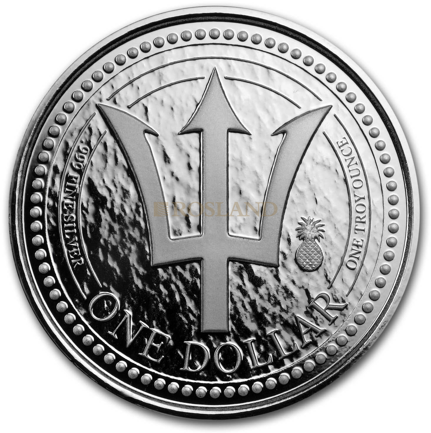 1 Unze Silbermünze Barbados Dreizack 2018 (Ananas Privy)