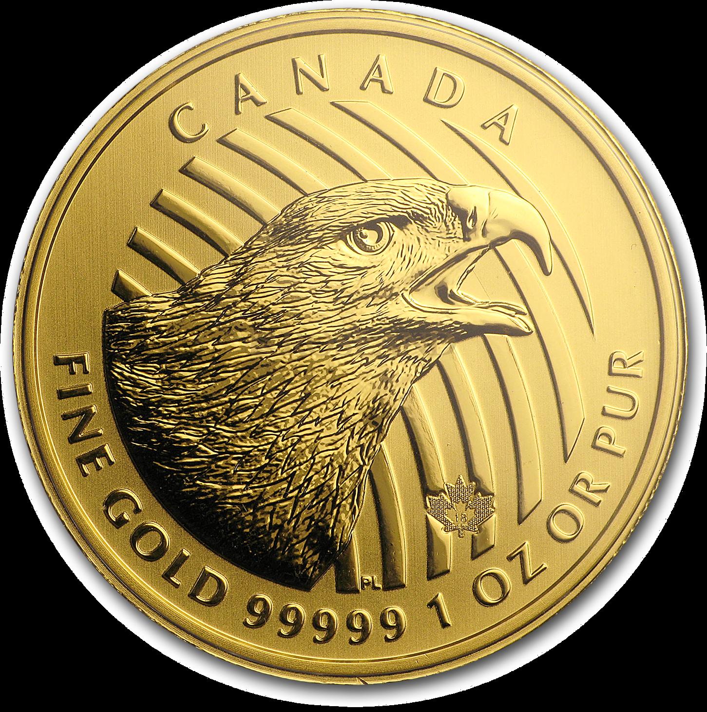 1 Unze Goldmünze Call of the Wild Golden Eagle 2018 (.99999 Gold, Blister)