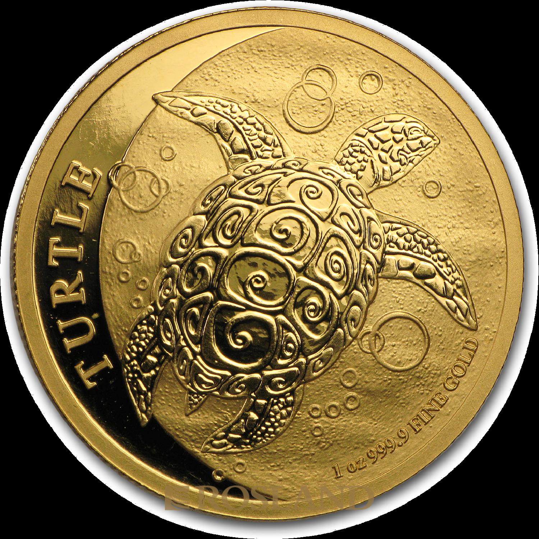 1 Unze Goldmünze Hawksbill Schildkröte 2016