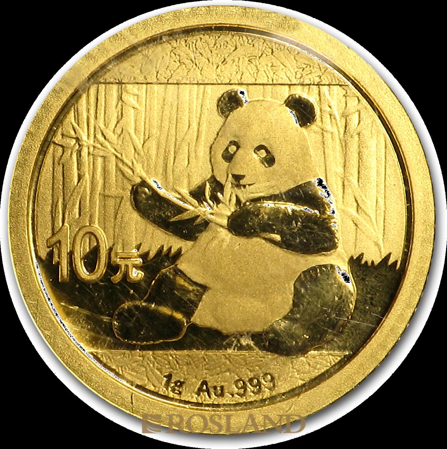 1 Gramm Goldmünze China Panda 2017
