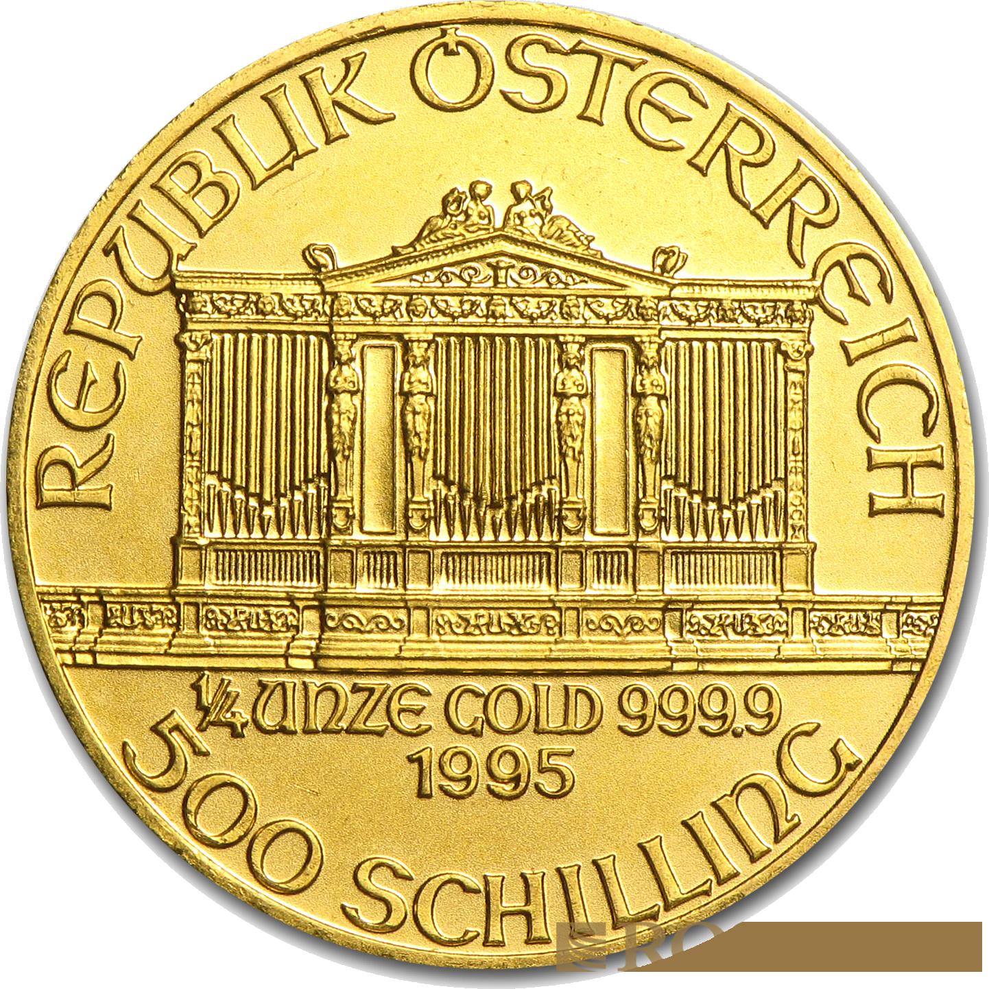 1/4 Unze Goldmünze Wiener Philharmoniker 1995