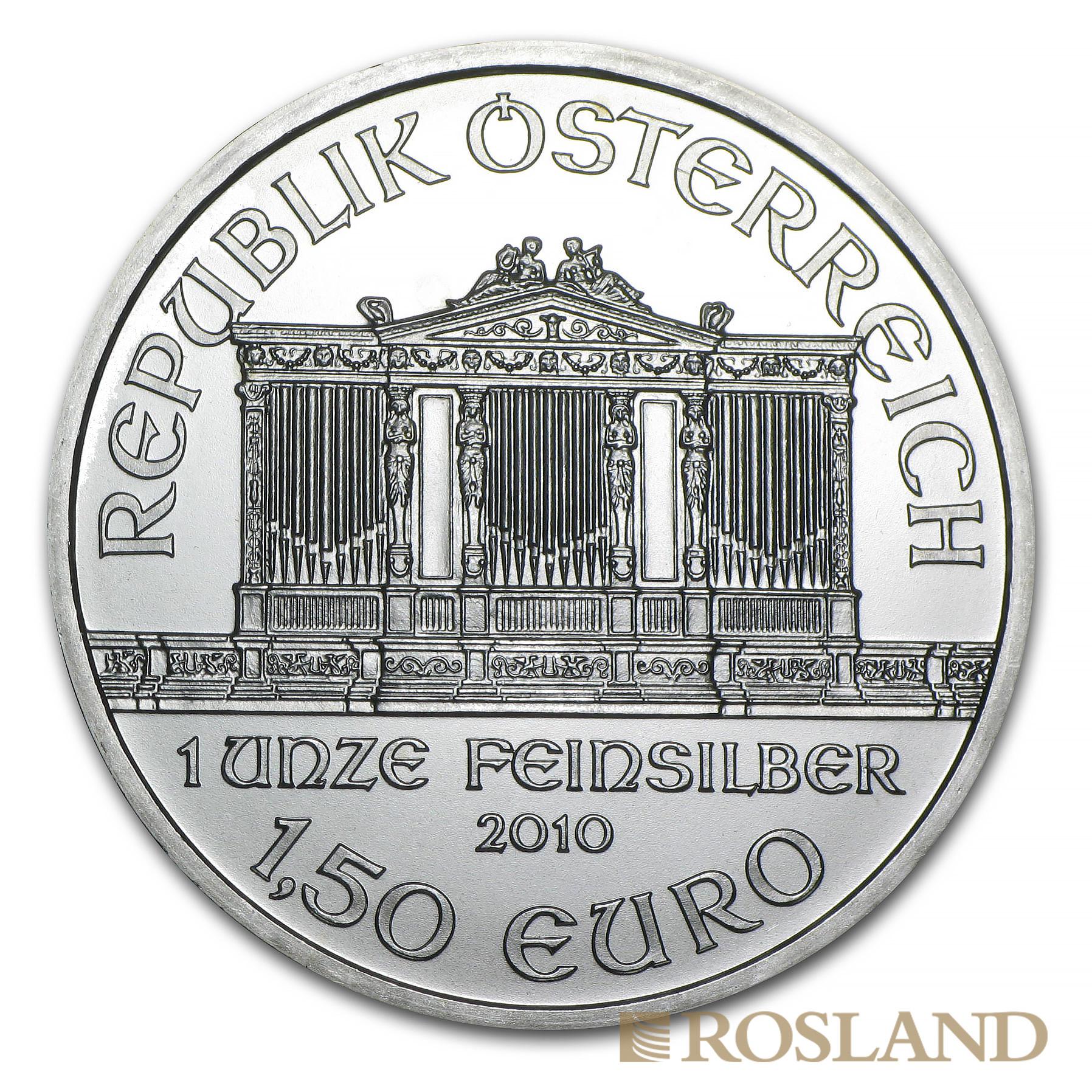 1 Unze Silbermünze Wiener Philharmoniker 2010