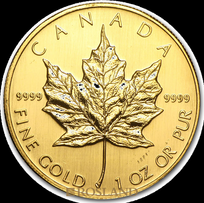 1 Unze Goldmünze Kanada Maple Leaf 2007