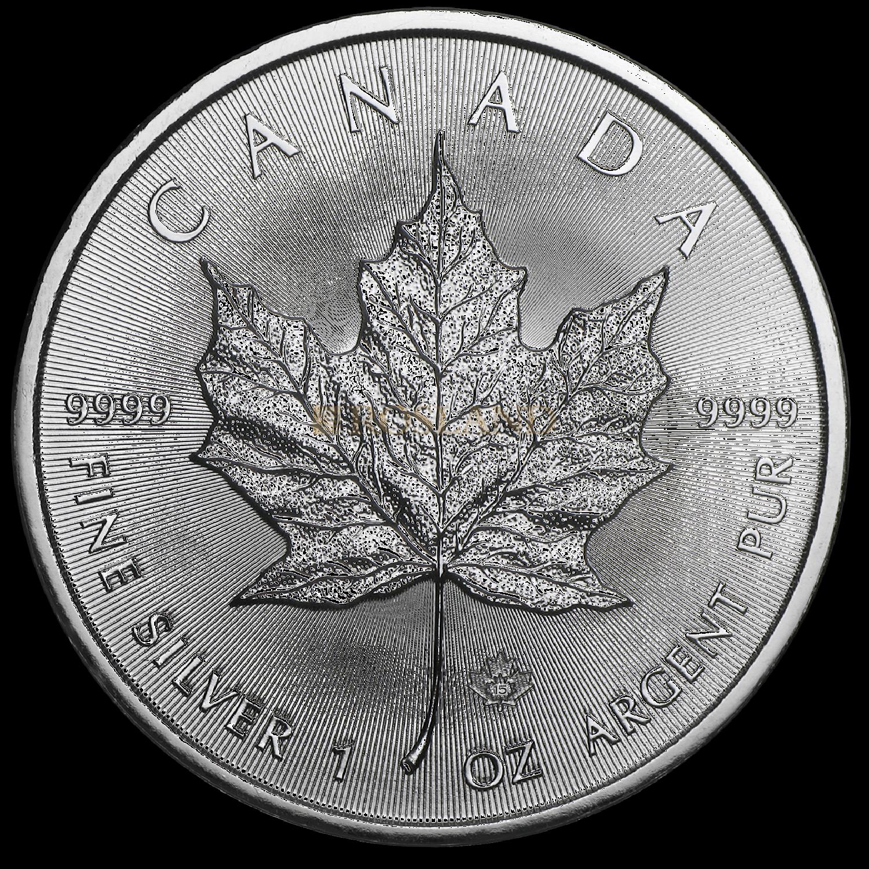 1 Unze Silbermünze Kanada Maple Leaf 2015