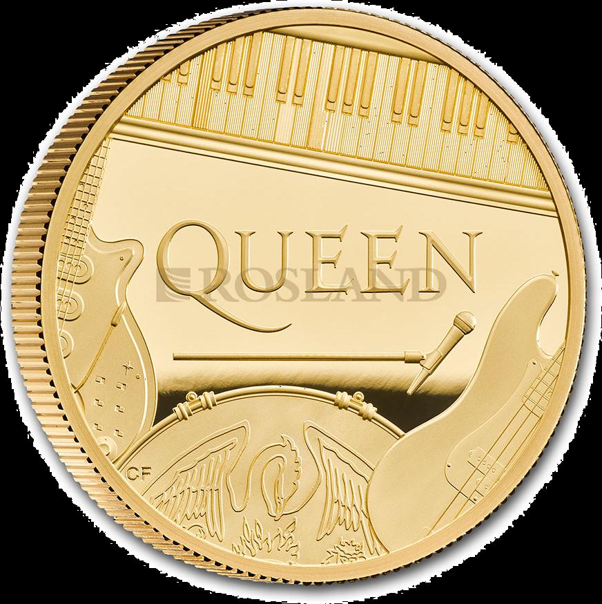 1 Unze Goldmünze GB Musiklegenden - Queen 2020 PP (Box, Zertifikat)