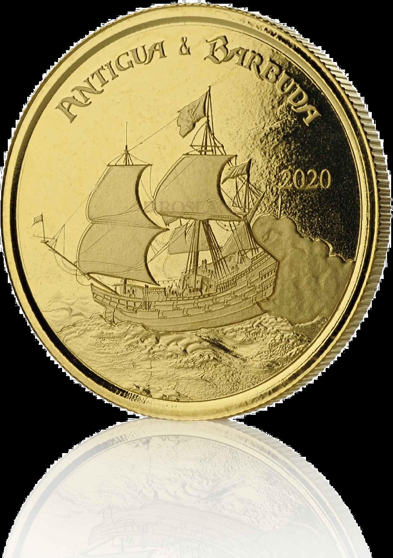 1 Unze Goldmünze EC8 Antigua & Barbuda Rum Runner 2020 (Blister, Zertifikat)