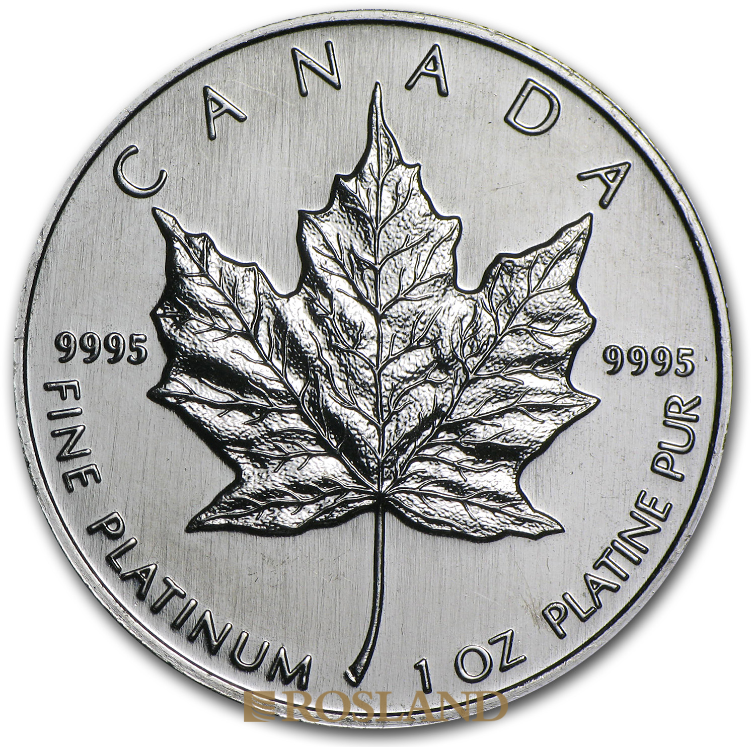 1 Unze Platinmünze Kanada Maple Leaf 1995